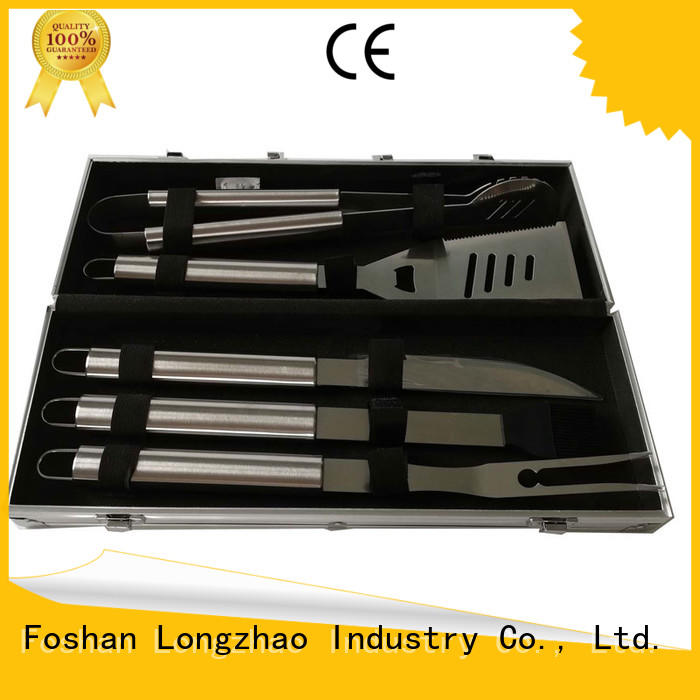 Longzhao BBQ folding bbq grill set best price for charcoal grill