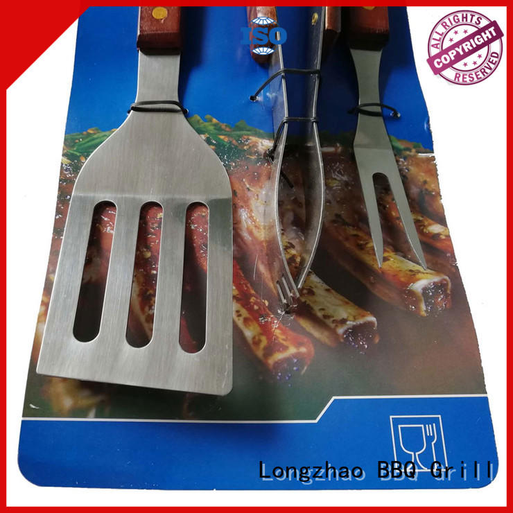 Longzhao BBQ grilling utensil sets hot-sale for gatherings