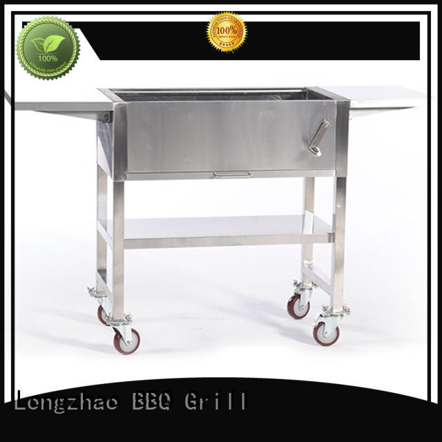 Longzhao BBQ round metal patio fire pit with grill for outdoor cooking