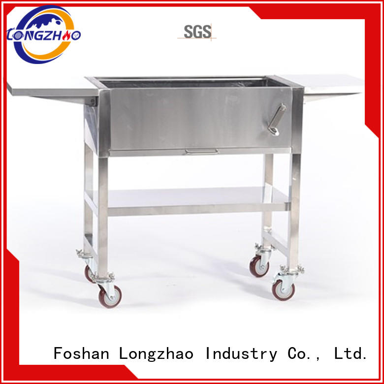 Longzhao BBQ stainless bbq charcoal grills on sale high quality for outdoor cooking