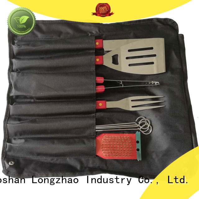 Apron 9pcs BBQ Tools Set with Wooden Handle for BBQ Gatherings