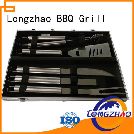Longzhao BBQ handle carried bbq grill tool set free sample for gatherings