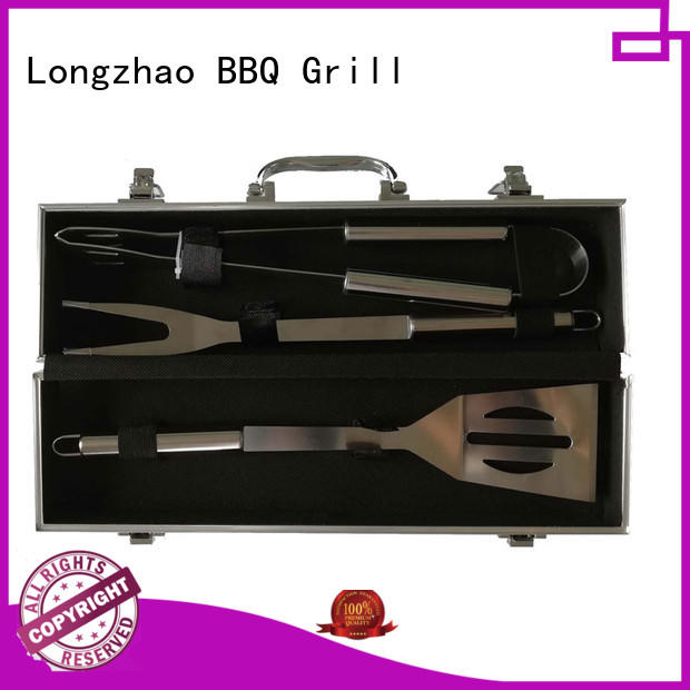 Longzhao BBQ heat resistance barbecue tool set factory price