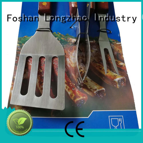 Longzhao BBQ wooden folding grillbasket by bulk for outdoor camping