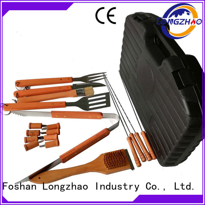 folding portable factory direct Longzhao BBQ Brand bbq grill basket supplier