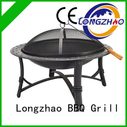 Longzhao BBQ simple party trolley bbq grill barrel for camping