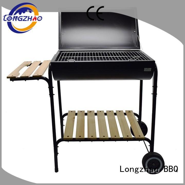 rectangular trolley easy liquid gas grill Longzhao BBQ Brand