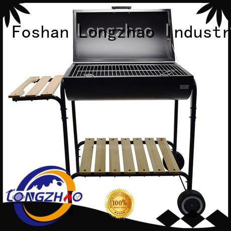 Longzhao BBQ light-weight barrel bbq grills with wheels pit for barbecue