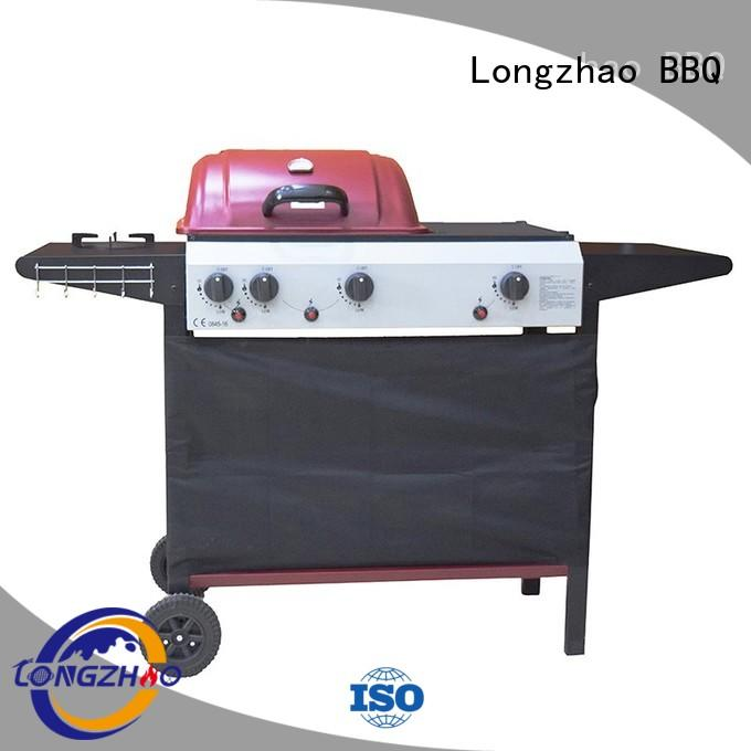 gas barbecue bbq grill 4+1 burner storage liquid gas grill Longzhao BBQ Brand
