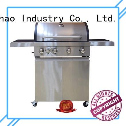 iron table Longzhao BBQ Brand 2 burner gas grill factory