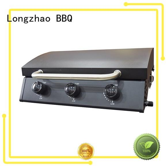 trolley stainless propane Longzhao BBQ Brand 2 burner gas grill factory