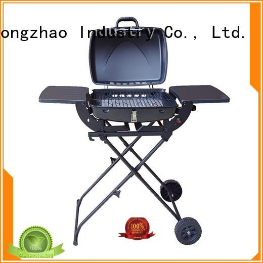 easy moving 3 burner propane gas grill griddle for cooking Longzhao BBQ