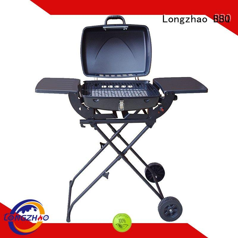 hood folding backyard Longzhao BBQ Brand gas barbecue bbq grill 4+1 burner manufacture