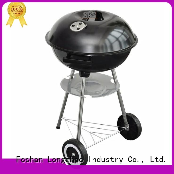 Longzhao BBQ stainless small charcoal grill burning for barbecue