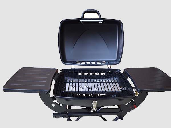 easy moving 3 burner propane gas grill griddle for cooking Longzhao BBQ-4