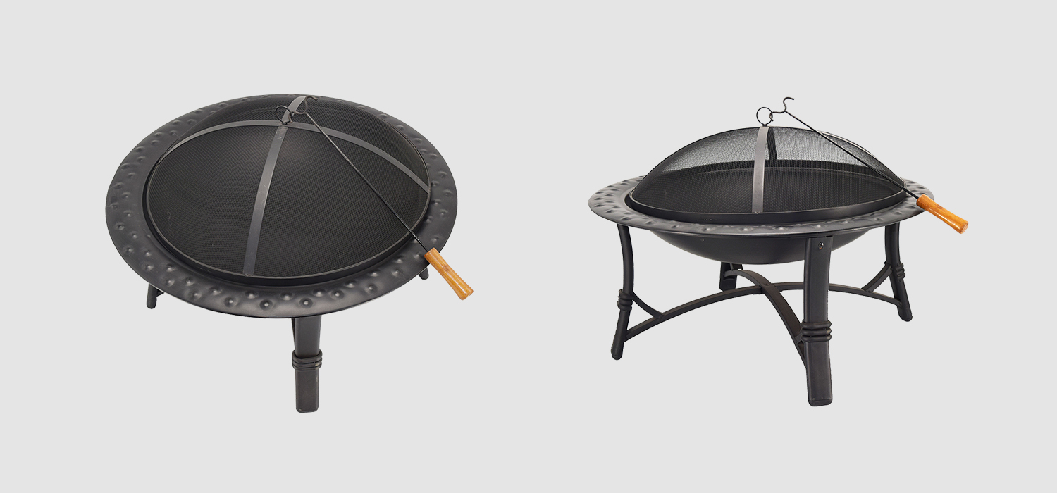 30 Round Metal Garden Stove Wood Burning Fire Pit-1