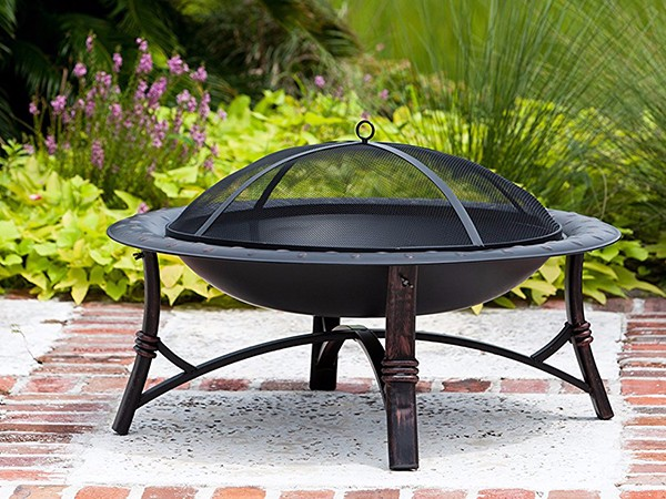 30 Round Metal Garden Stove Wood Burning Fire Pit-3