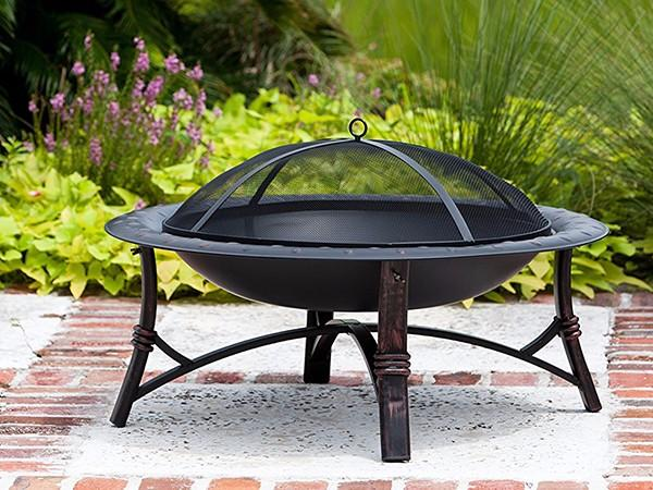 Longzhao BBQ stainless wood burning fire pit grill kettle for outdoor bbq
