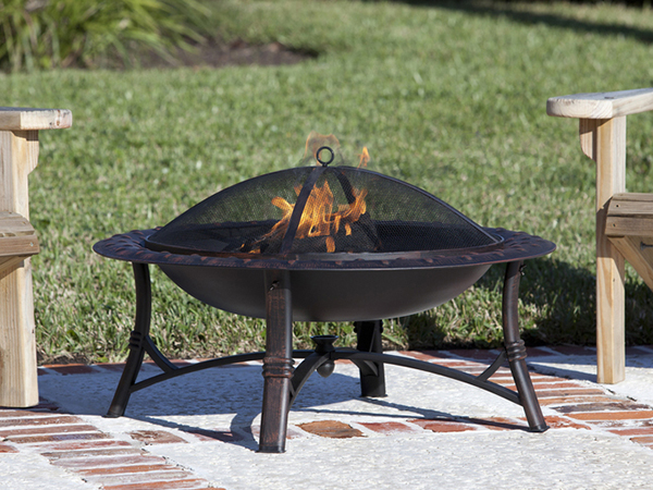 30 Round Metal Garden Stove Wood Burning Fire Pit-4
