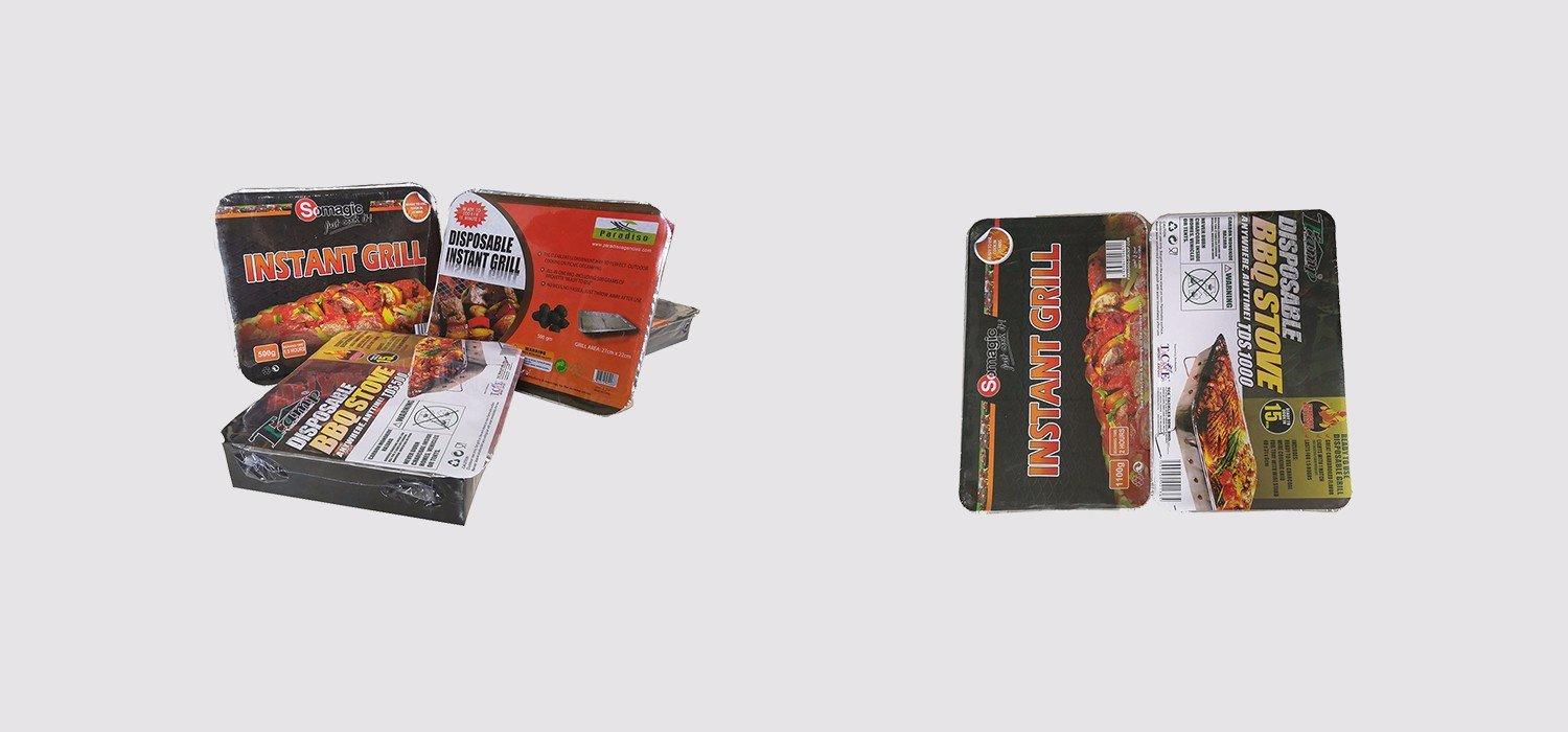 duty trolley instant disposable bbq grill near me Longzhao BBQ manufacture