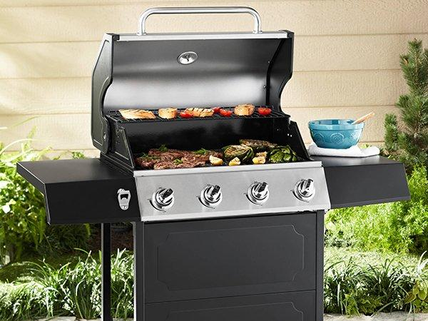 Longzhao BBQ table top gas charcoal grill lpg for cooking