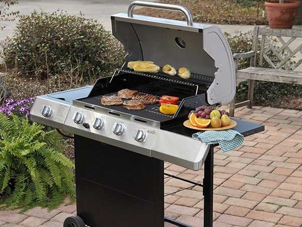 Longzhao BBQ table top gas charcoal grill lpg for cooking-5