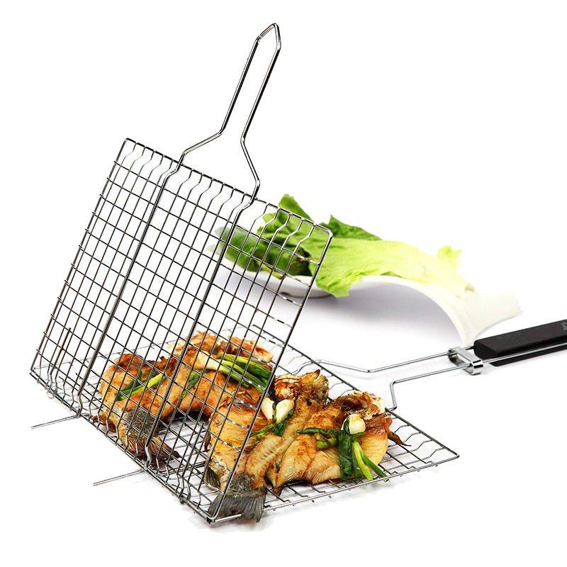 Portable Folding Outdoor Gas BBQ Grill With 2 Side Tables