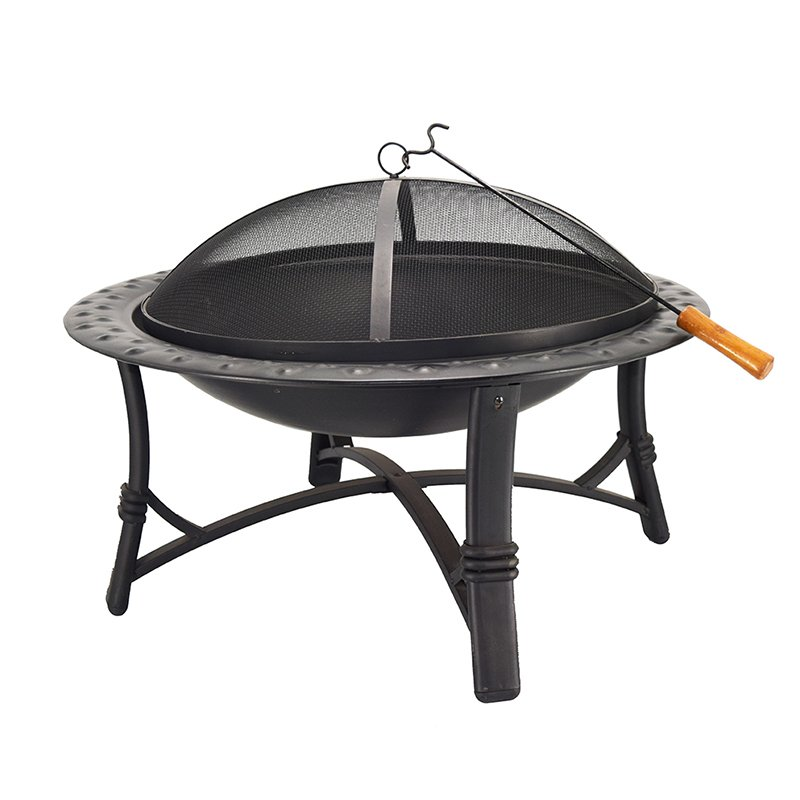 30 Round Metal Garden Stove Wood Burning Fire Pit-5