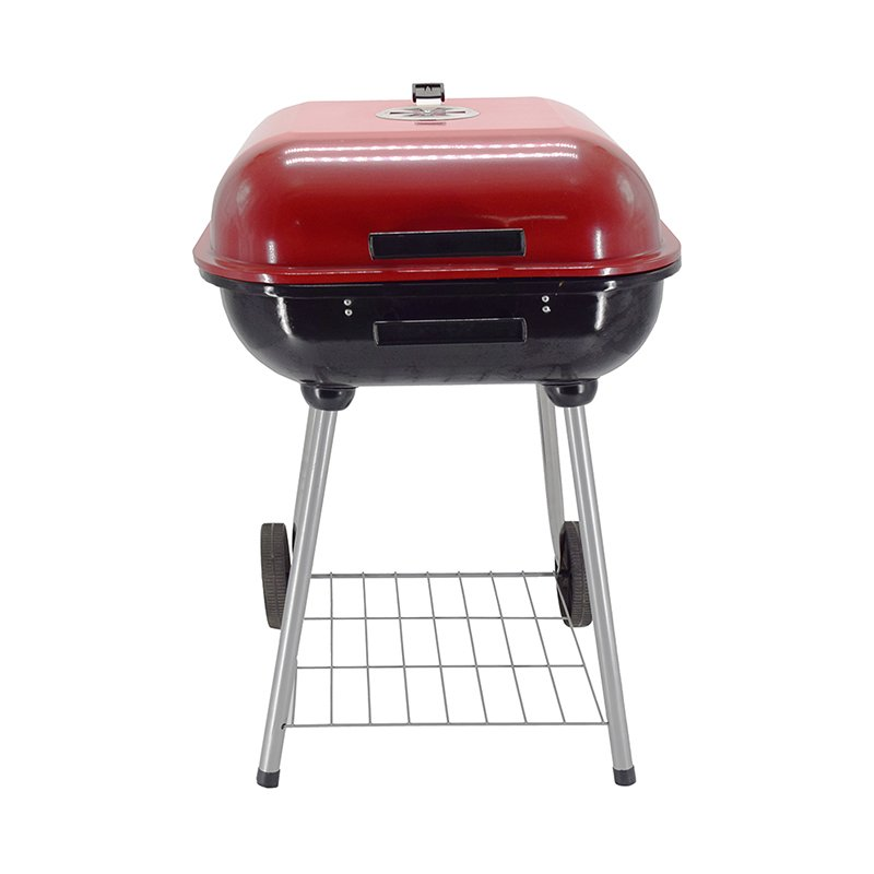 Longzhao BBQ 18 Trolley Garden Charcoal BBQ Cooking Grill in Red Charcoal BBQ Grill image8
