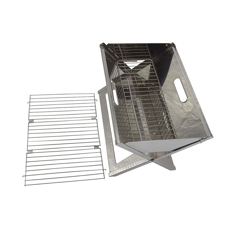 Longzhao BBQ Stainless Steel Outdoor Charcoal BBQ Grill for Camping Charcoal BBQ Grill image6