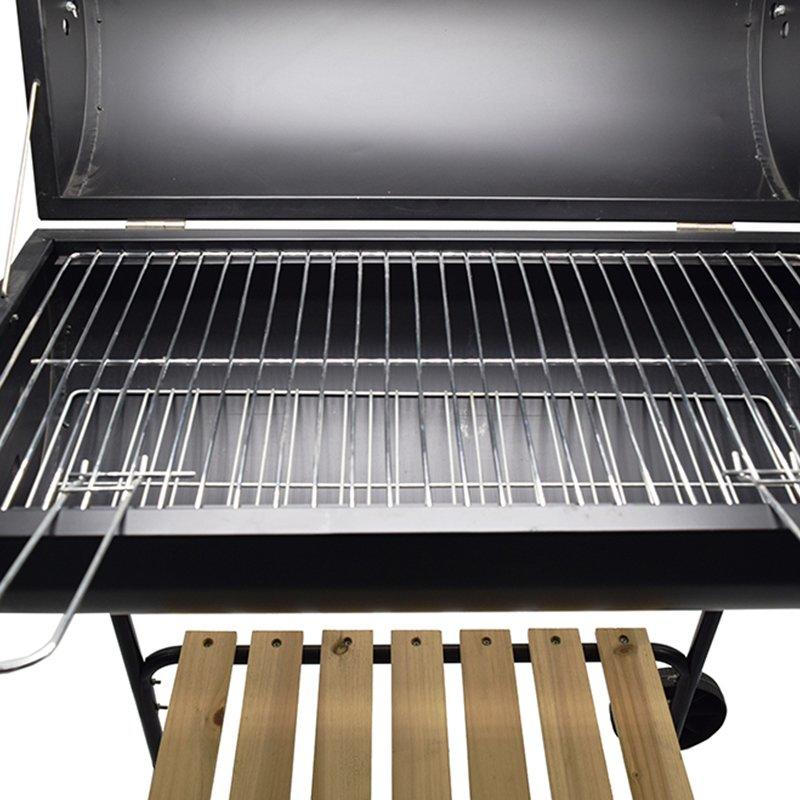 Heavy Duty Large Charcoal Barrel BBQ Grill With Wheels