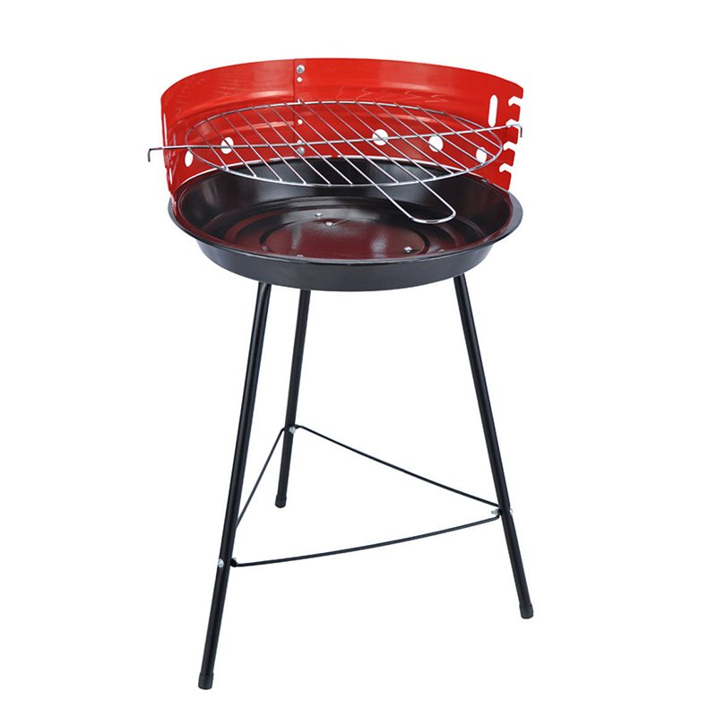 Longzhao BBQ Cheap Price 18 Barren Round Simple Charcoal BBQ Grill Charcoal BBQ Grill image2