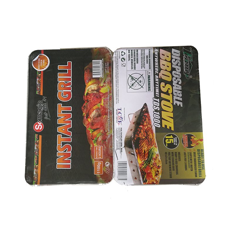 Longzhao BBQ 500g 600g 1000g Disposable Instant Light Camping BBQ Grill Charcoal BBQ Grill image1