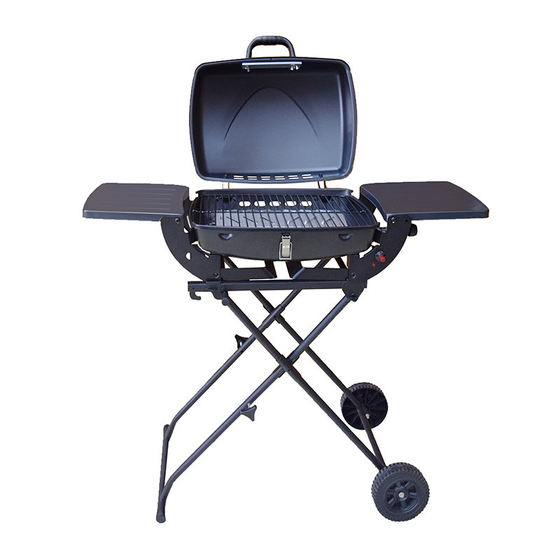 easy moving 3 burner propane gas grill griddle for cooking Longzhao BBQ-5