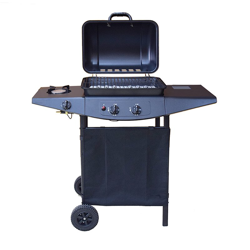 2+1 Burners Backyard Butane Gas BBQ Grills-5
