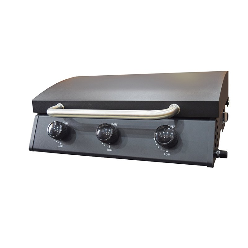 Tabletop 3 Burners Propane Gas BBQ Grills With Hood-5