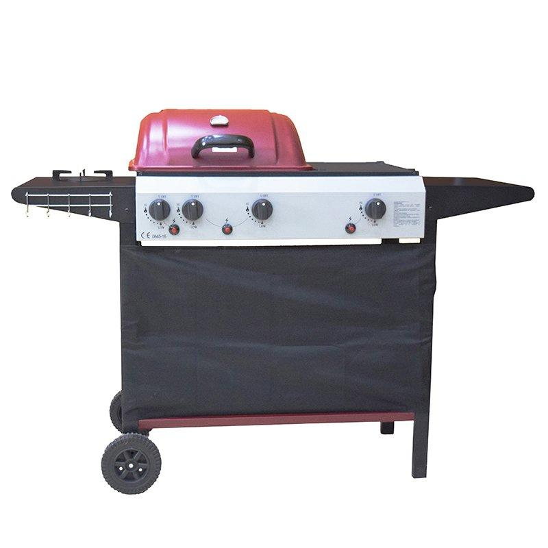 Half Griddle Half Grill Butane Garden Cooking Gas Grill