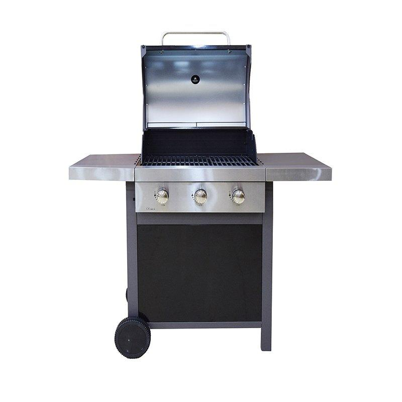 Black and Silver Liquid Gas BBQ Patio Grill