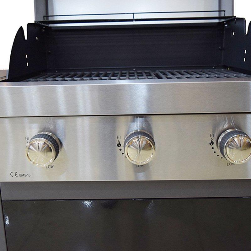 Black and Silver Liquid Gas BBQ Patio Grill