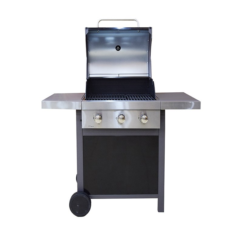 Longzhao BBQ table top gas charcoal grill lpg for cooking-6