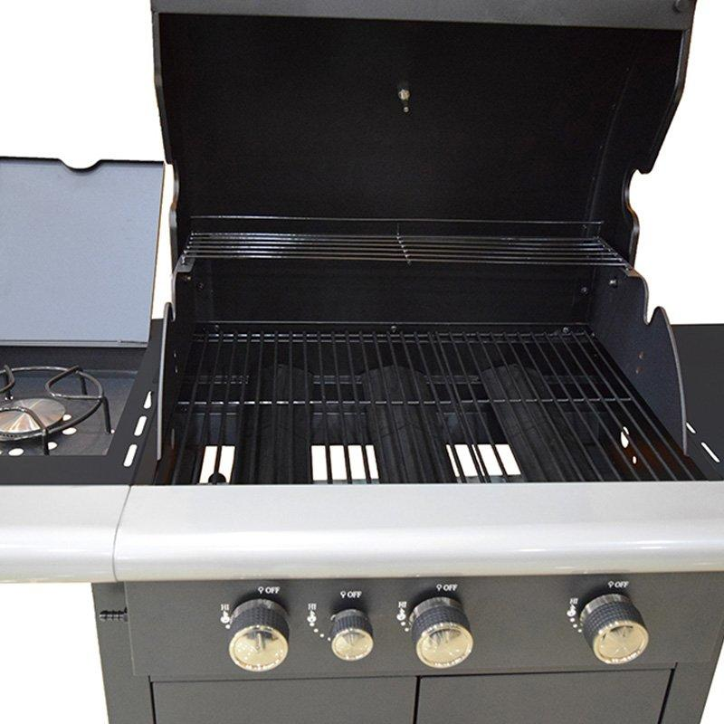 LPG Gas Barbecue Grill Side Burner Garden Patio Bbq Cooking