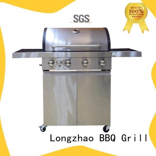 Silver Large Base Storage Base 4+1 Burners Gas Grill