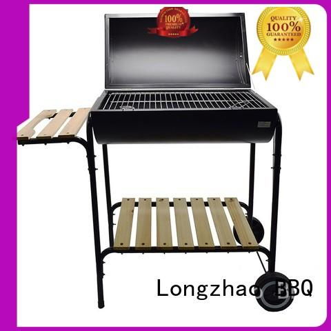 Longzhao BBQ instant 22.5 charcoal grill burning for camping