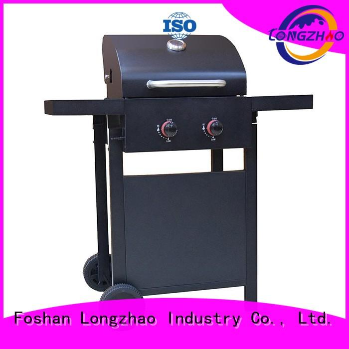gas barbecue bbq grill 4+1 burner top outdoor griddle Longzhao BBQ Brand company