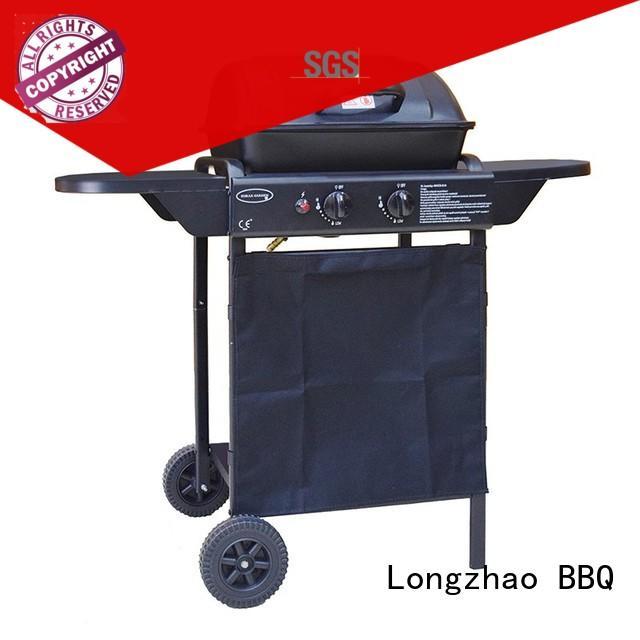 2 burner gas grill trolley tabletop Bulk Buy outdoor Longzhao BBQ