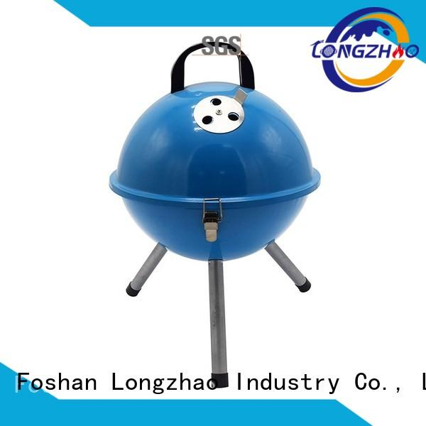 adjustable stainless liquid gas grill trolley side Longzhao BBQ company