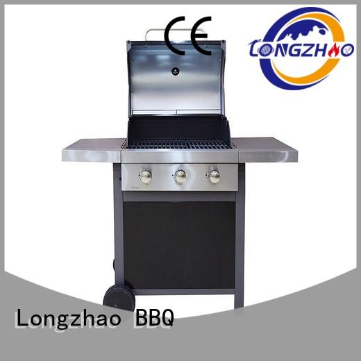 Longzhao BBQ tables best 2 burner gas grill black for garden grilling