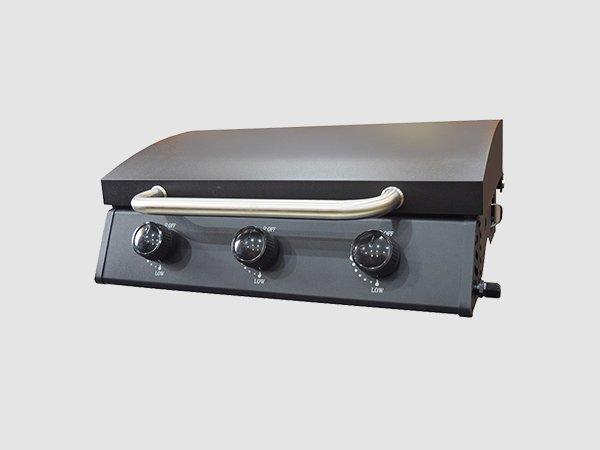Tabletop 3 Burners Propane Gas BBQ Grills With Hood-3