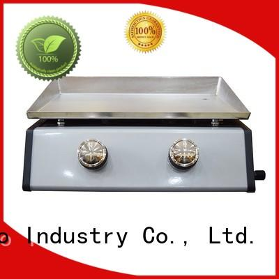 moving base folding Longzhao BBQ Brand 2 burner gas grill manufacture