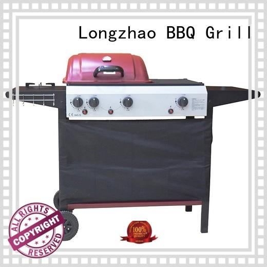 Longzhao BBQ large base gas barbecues grills free shipping for garden grilling